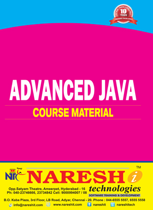 Advanced Java Course Material Course, Best Advanced Java Course
