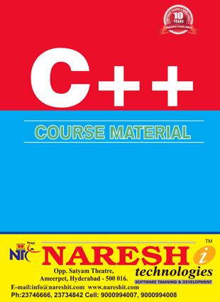 C++ Course Material Course, Best C++ Course Material Institute