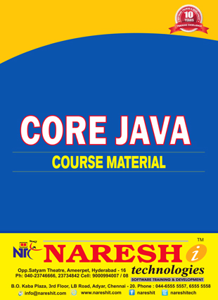 Core Java Course Material Course, Best Core Java Course Material