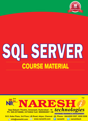 SQL Server Course Material Course, Best SQL Server Course