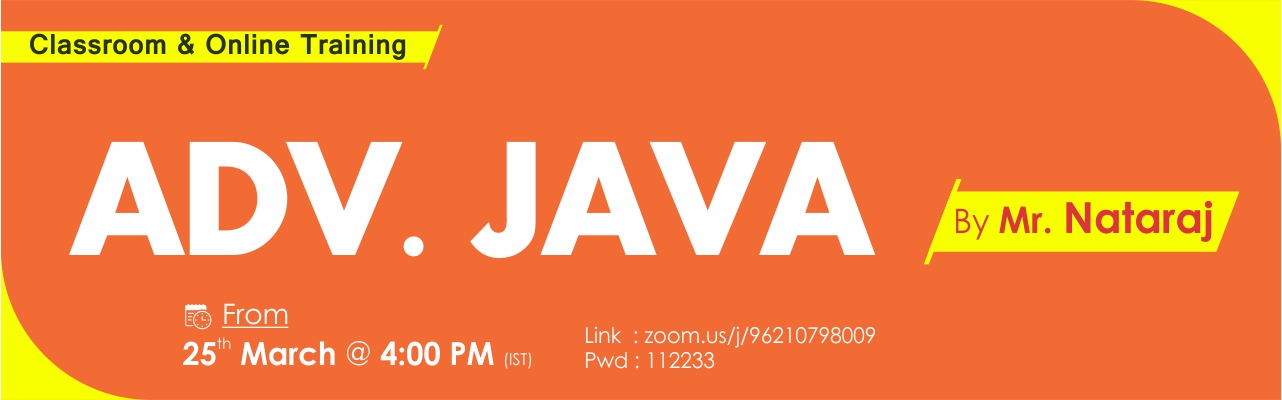 Adv. Java Online Training